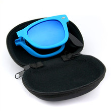 Men Women Foldable Sunglasses With original BOX Folding Glasses With Case Brand Designer Mirrored Sun Glasses Folded
