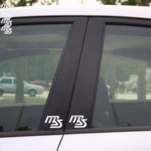 4 X MS Logo Reflective Car Sticker And Decal B Column For Mazda 2 Mazda 3 Mazda 6 Mazda cx 5(China)