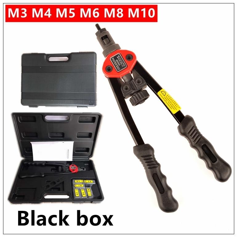 MXITA Riveter Gun Auto rivet tool 12 Blind Rivet Nut Gun Heavy Hand INSER NUT Tool Manual Mandrels M3 M4 M5 M6 M8 M10 BT-606<br>