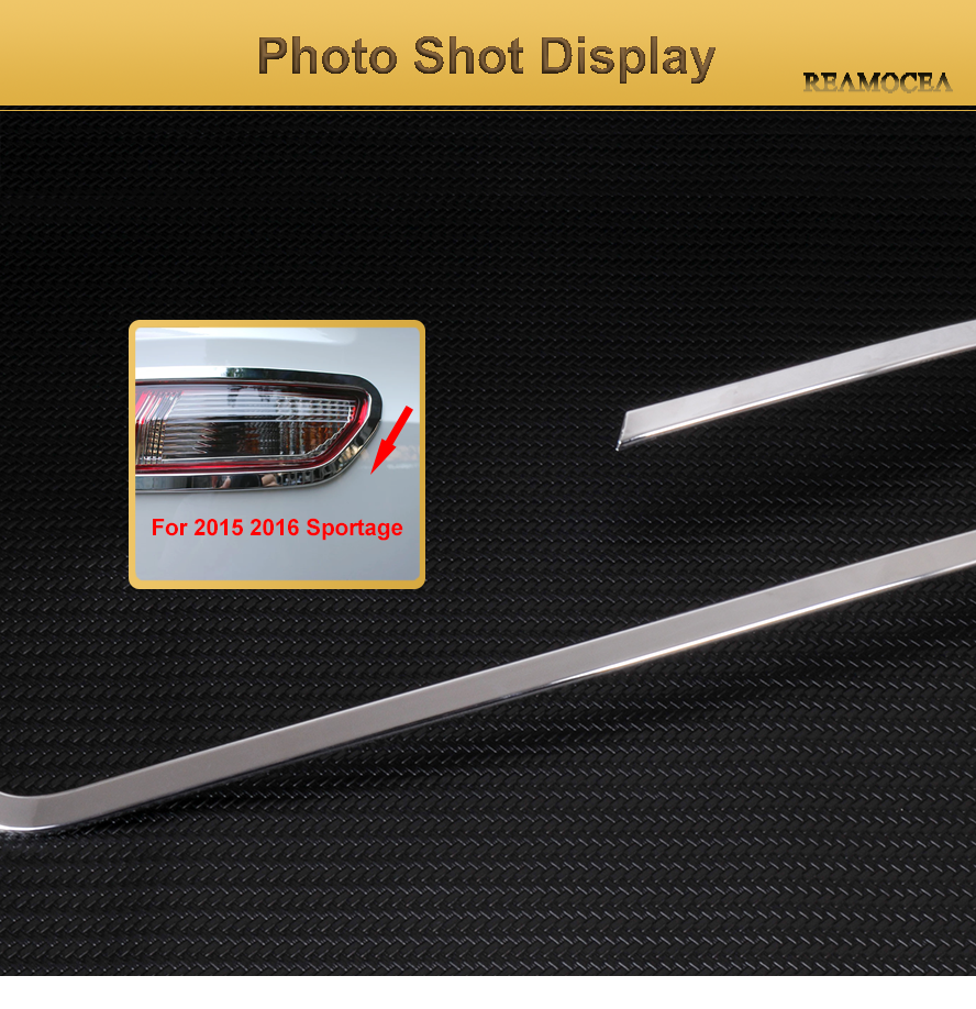 New Chrome Rear Tail Light Cover Trim For KIA Sportage 2011 2012 2013 2014 2015