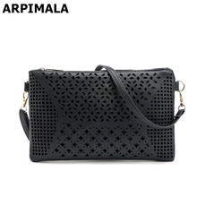 ARPIMALA 2017 Hollow Out Clutch Bag Designer Envelope Clutch for Women Candy Color Ladies Hand bags Leather Purses and Handbags(China)