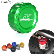 For Kawasaki Z800 Z 800 z800abs 2013 2014 Motorcycle z800 CNC Aluminum Cylinder Rear Fuel Brake Fluid Reservoir Cover Tank Cap(China)
