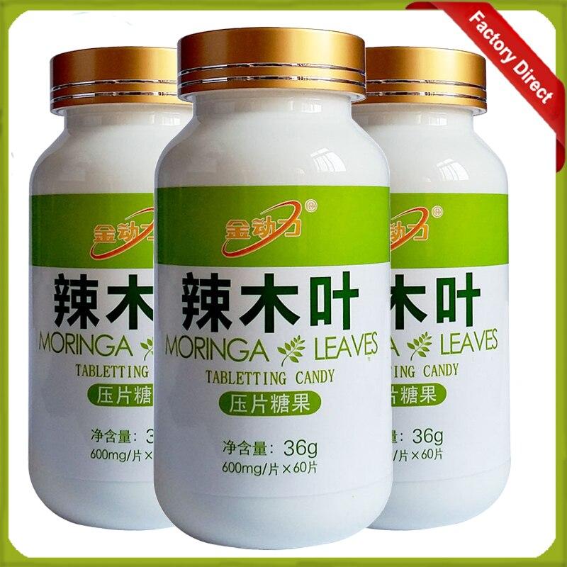 3 Bottles 600 mg 100% PURE MORINGA OLEIFERA LEAF POWDER Extract Tablet<br><br>Aliexpress