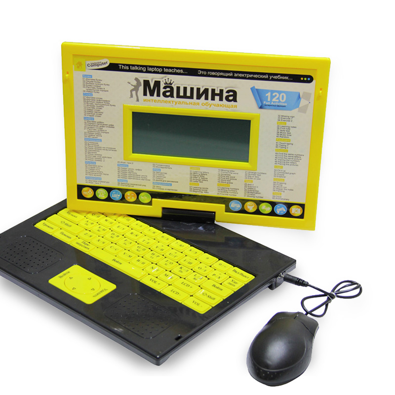 Laptop Learning &amp; Education Computer High Quality Russian and English Language Kids Early Learning Machine Educational Toys!!!<br>