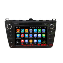 Hd 1024*600 Android 5.1 Car Stereo GPS Navigation DVD Multimedia Headunit For Mazda 6 Atenza 2008-2012 car multimedia system