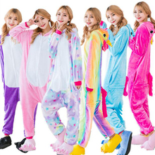 Vrouwen Pyjama Rainbow Eenhoorn Star Tenma Volwassenen Pajama Set Flanellen Pyjama Suits Garment Cartoon Animal Pyjama Nachtkleding Winter(China)