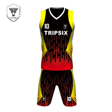 couple new design practice reversible mesh basketball jersey black and yellow(China)