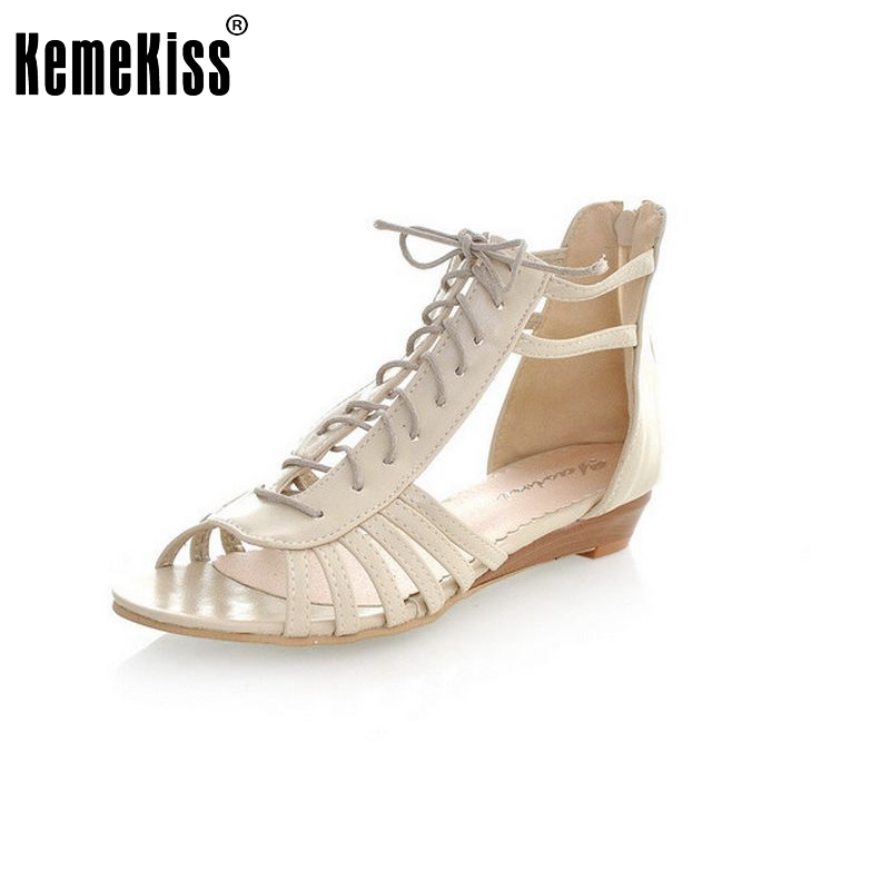 woman ankle wrap dress shoes women wedges women sandals open toe brand quality fashion roman ladies footwear size 34-43 PC00128<br><br>Aliexpress
