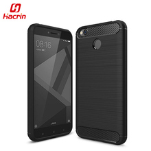 hacrin Xiaomi Redmi 4X Case Carbon Style Soft Protective TPU Silicon Back Cover for Xiaomi Redmi 4X Pro 5.0inch Mobile Phone