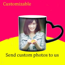 DIY Photo Magic Color Changing Coffee Mug, CustomizeYour picture magic cup, Creative personality birthday gift to friends(China)
