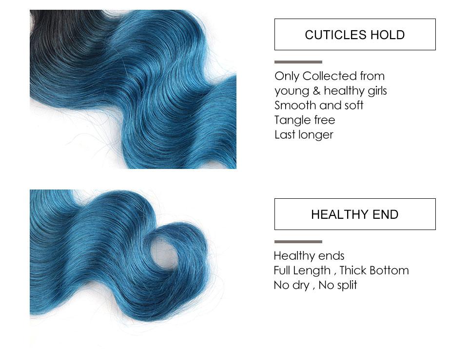 Hair Villa Remy Brazilian Body Wave Human Hair Bundles OT Ice Blue for Salon Low Ratio Longest Hair PCT 15% Hair Extensions (6)