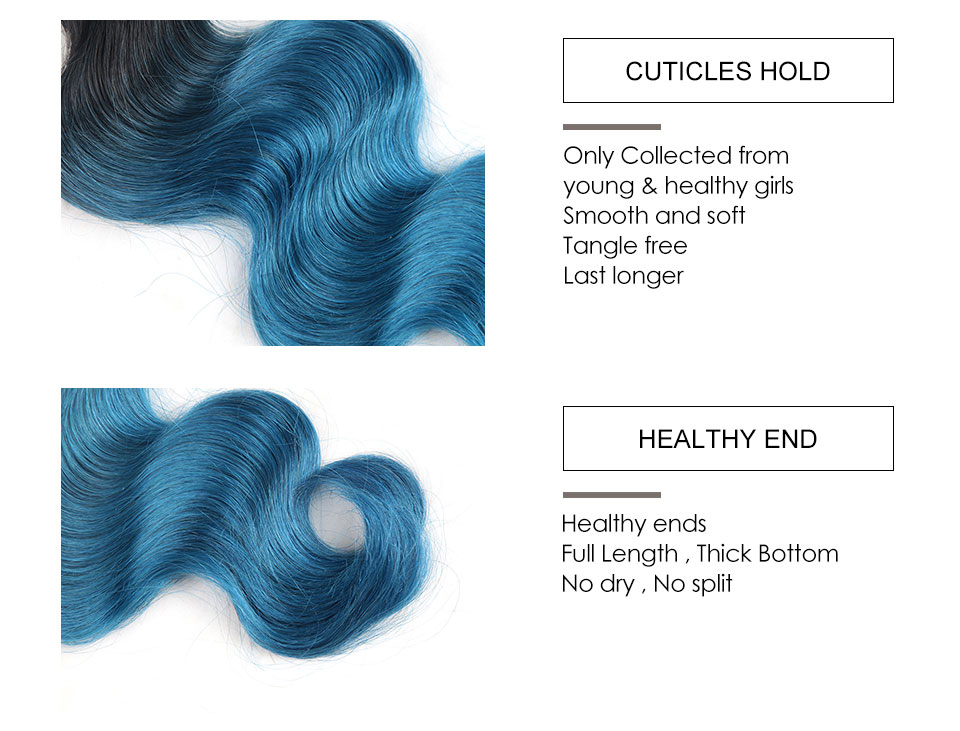 Hair Villa Remy Brazilian Body Wave Human Hair Bundles OT Ice Blue for Salon Low Ratio Longest Hair PCT 15% Hair Extensions (6)