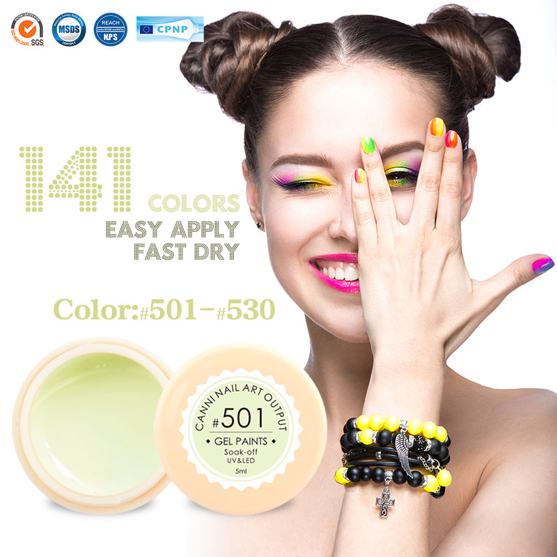 #50618 OEM Private Label Nail Gel Manufacturer CANNI New Products 2016 Nail Color Gel Nail Art Paint UV Gel UV/LED Color Gel(China (Mainland))