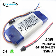 1/ 2 /5 / 10 Pieces 20W 30W 40W LED Driver 20-36x1W 350mA DC60-120V High Power Lighting Transformers For Floodlight(China)