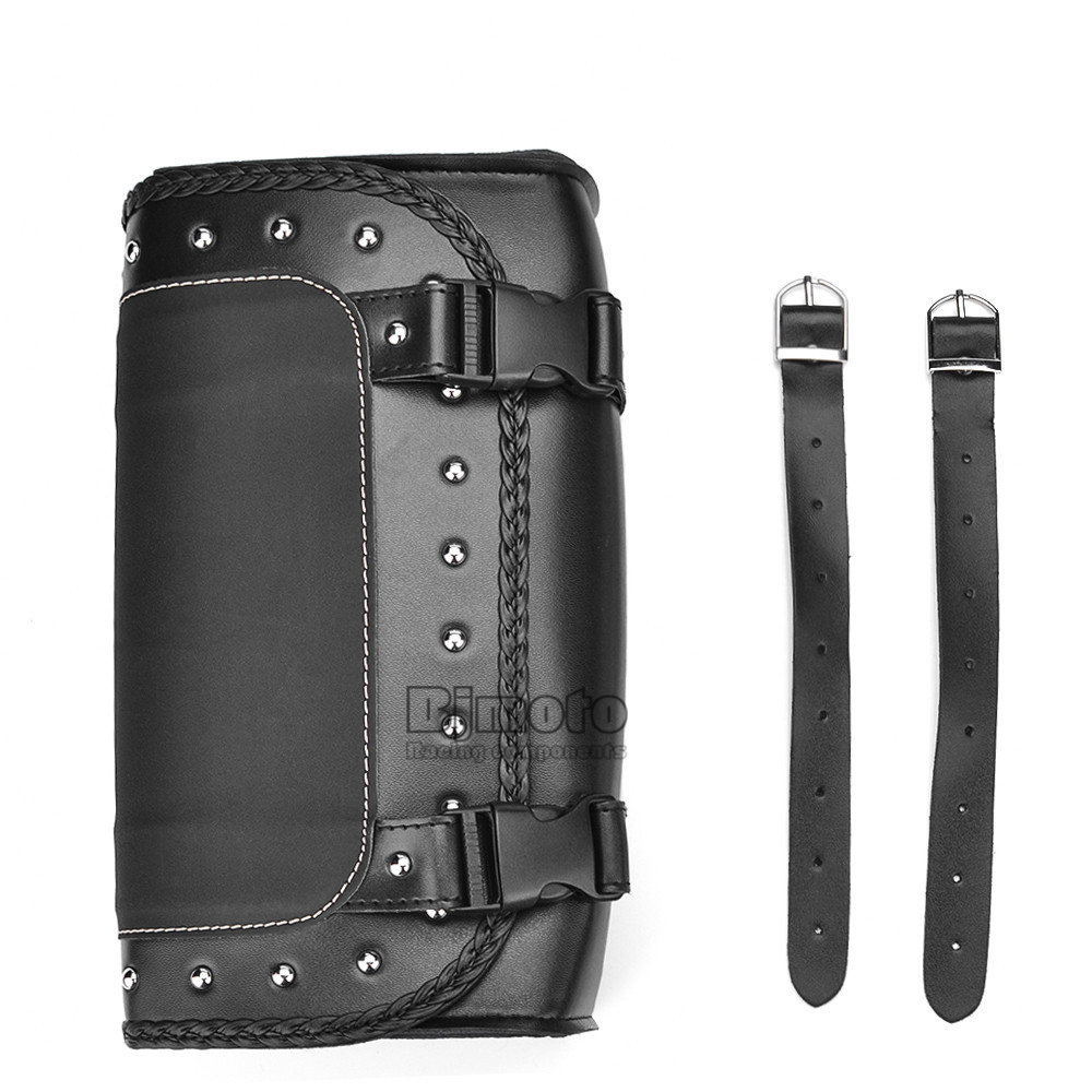 Black Motorcycle Saddlebag Bag PU Leather Luggage Saddle Bags For Harley Sportster Pannier Side Saddle Bag (10)