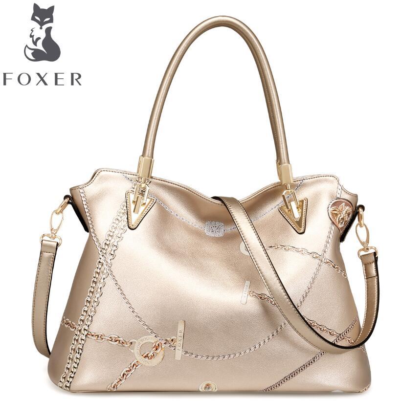 FOXER 2016 new superior cowhide leather women genuine leather bag fashion famous brands women leather handbags shoulder bag<br><br>Aliexpress