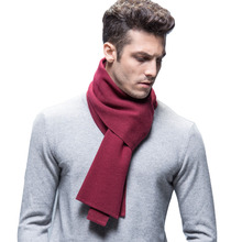 [Lakysik ]2016 Fashion Design solid Men Scarf Wool Shawl Winter Warm Scarves Luxury brand Wrap Echarpe Man Business(China)