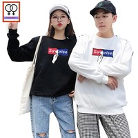 64e2afc8ee His and Her Hooded Sweatshirt Pullover Hoodies Preppy Style Boyfriend  Girlfriend White Black Letter Matching Couple