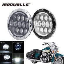 "Ironwalls 7"" Motorcycle Led Headlight Projector Daymaker 6000K Head Lamp For Harley Davidson Softail Dyna Touring Jeep JK Hummer"