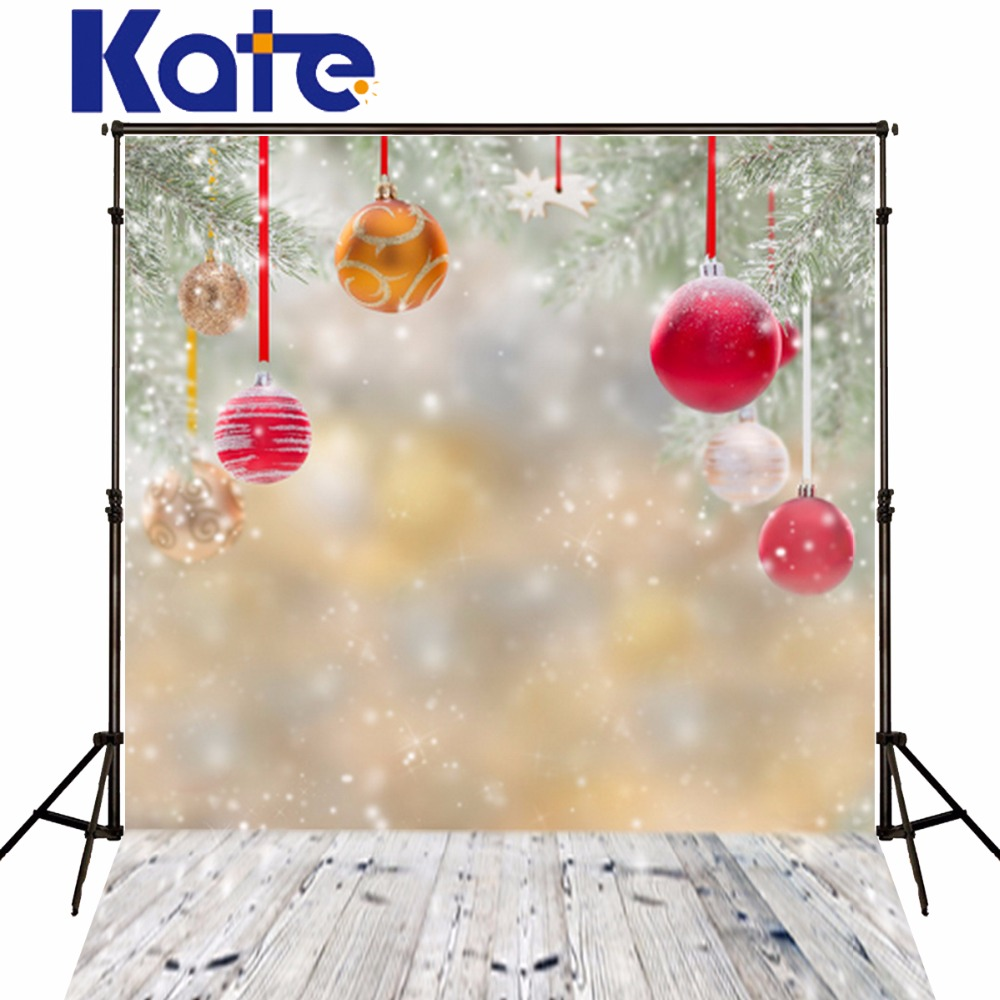 Christmas Photography red ball Background Vinyl Wood Floor With Snow Falling Newborn Photography Backdrop Printed Studio Xmas<br><br>Aliexpress