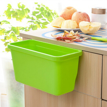 New Sale Candy Colour Pink Kitchen cabinet doors hanging plastic trash Creative Desktop multifunction storage box