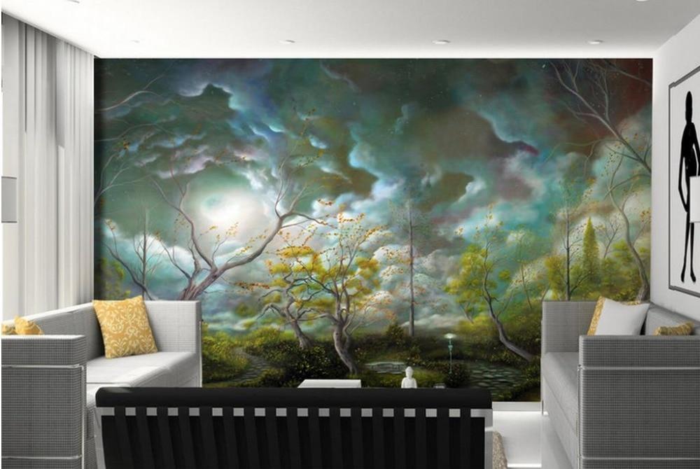 custom 3d murals Fantasy landscape children girl murals3d luxury wallpaper moisture-proof murals rolls 3d wall murals 3d modern<br><br>Aliexpress