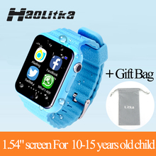 Children Security Anti Lost GPS Tracker V7K smart watch SIM /TF With camera Kids gift SOS Emergency For Iphone&Android PK Q90