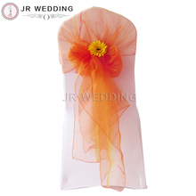 100pcs Free Shipping Coolorful Oganza Chair Sashes For Wedding Party Banquet Decoration(China)