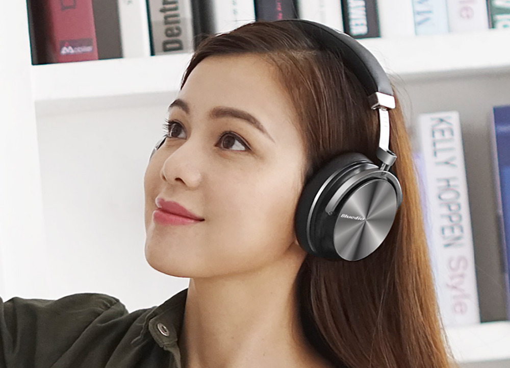 Bluedio T4S Active Noise Cancelling Wireless Bluetooth Headphones wireless Headset with Mic 5