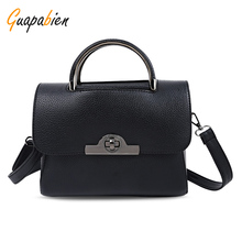 Guapabien Fashion 2017 Women Mini Tote Bag Vintage Leather Hasp Shoulder Bag Small Ladies Shopping Handbag Phone Clutch Bags