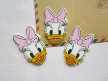 30pcs/lot Wholesale Planar Resin Daisy Duck for Hair Bow Center Crafts Making, DIY (26*41mm), Free Shipping