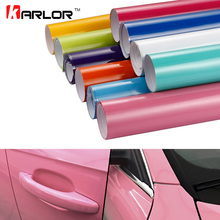 60x500cm Bright Glossy Vinyl Film Car Color Change Wrapping Sticker DIY Self-adhesive Decal For Car Motorcycle Truck Car-Styling(China)