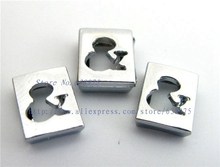 "wholesale price 100pcs 8mm Hollow Symbol ""&"" Slide Charms Fit Pet Dog Cat Tag Collar Wristband/bracelet"