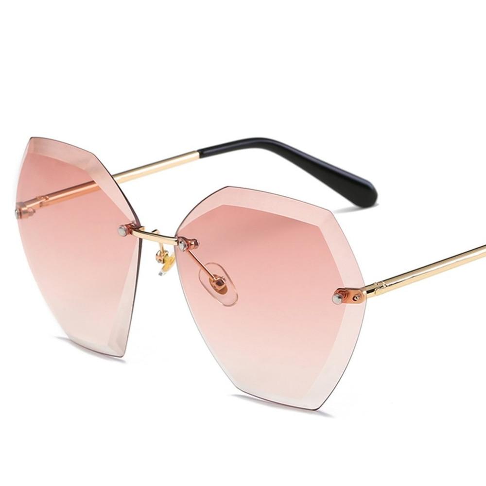 Unique Women Sunglasses Cutting Lens Oversize Eyewear Cat Eye Shades Sun Glasses Ladies Travel Glasses 2108 new fashion sun wear
