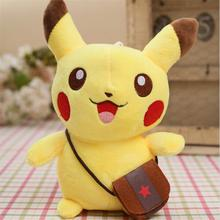 2016 New Pikachu Plush  doll 20cm Plush Toy Cute Pikachu Soft Toy For Children Gift Chirstmas Doll