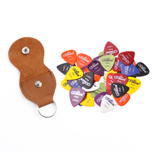 Assorted Thickness Color 20pcs Guitar Picks Alice Matte Acoustic Electric Picks+1 Leather Key Chain Guitar Picks Holder bag Case(China)
