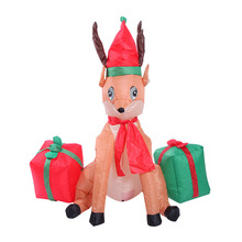 120cm 4ft Deer Inflatable Animal Toys LED Lighted Easter Thanksgiving Day Decoration Blow Up Yard Outdoor Christmas Party Props(China)