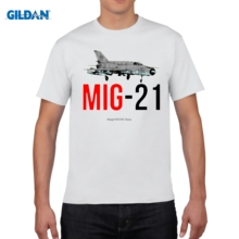GILDAN Men's Boy MIG 21 Jet Air Plane T Shirt MIG 21 Jet Air Plane Tee Shirts Short Sleeve Father's Day Custom Male Men