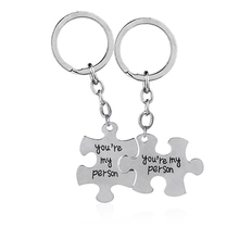2pc You're My Person Puzzle Alloy Keychain Set Valentines Day Best Friend Gift  Jewelry