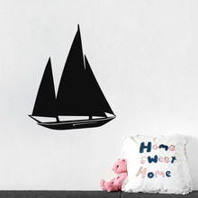 Funny Boat Vinyl Wall Stickers Yacht Outline Art Decals Home Decor For Bedroom Self Adhesive Wall Paper