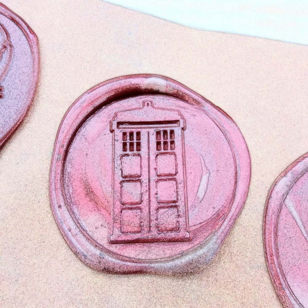 Free Shipping TARDIS Police Box Sealing Wax, Doctor who Wax Seal ...