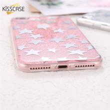 KISSCASE Phone Cases For iPhone 7 7 Plus Case Luxury Glitter Star Ultra Thin Shiny PC Plastic Case For iPhone 7 7 Plus Cover