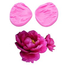 3D Peony Flower Petals Embossed Silicone Mold Relief Fondant Cake Decorating Tools Chocolate Gumpaste Candy Clay Moulds FT-1028(China)