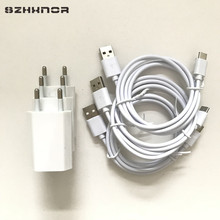 3pcs USB Power Charger Adapter & 8 pin / TYPE C / MICRO USB Charging Cable for iphone 7 6 plus 6s 5 X 8 for samsung S8 android(China)