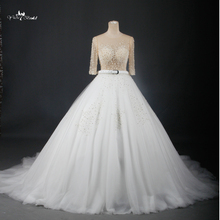 China Supplier Alibaba Wedding Dresses 2015 Latest Dress Designs Sexy See Through Corset RSW700(China)