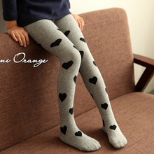 Girls Spring Fashion Heart Pantyhose Child Pantyhose Children Tights(China)