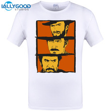 2017 Summer Fashion Human's Face Men T-Shirt The Good,the Bad And The Ugly Art Print T Shirt Cotton Top Short Cool Tee Shirt 6XL