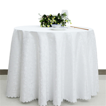White Round Tablecloth Polyester Rectangular Table Cloth for Weddings Restaurant Hotel Overlay Tablecloths Machine Washable