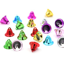 15Pcs Metal Bells Small Bell Ribbon Jewelry Ornaments Christmas Decoration Pendants DIY Handmade Bells Size 20*17*10mm