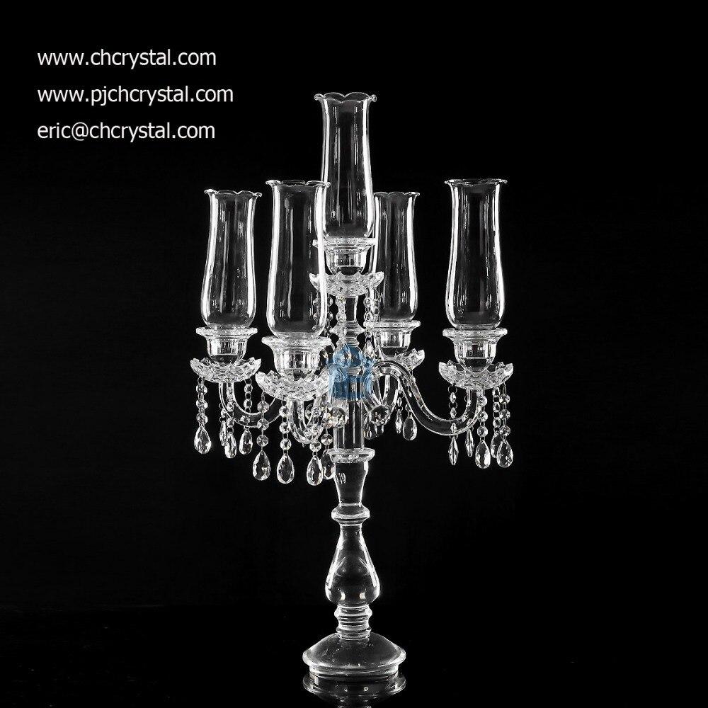 CHWH009crystal candelabra foe wedding decorations